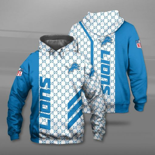 National football league detroit lions full printing hoodie