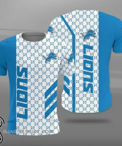 National football league detroit lions full printing shirt
