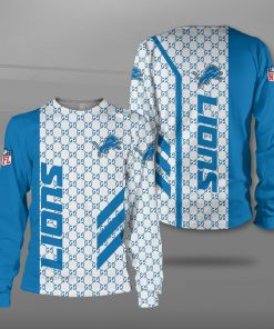 National football league detroit lions full printing sweatshirt
