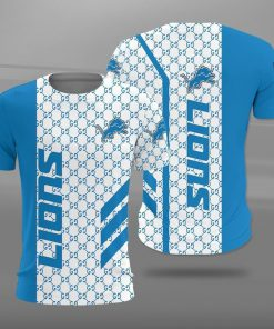 National football league detroit lions full printing tshirt