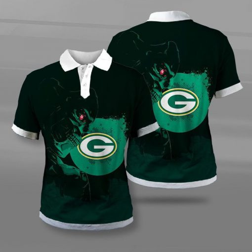 National football league green bay packers terminator full printing polo