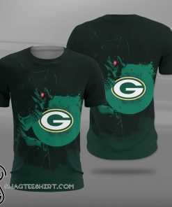 National football league green bay packers terminator full printing shirt