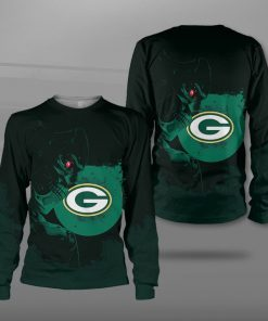 National football league green bay packers terminator full printing sweatshirt