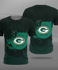 National football league green bay packers terminator full printing tshirt