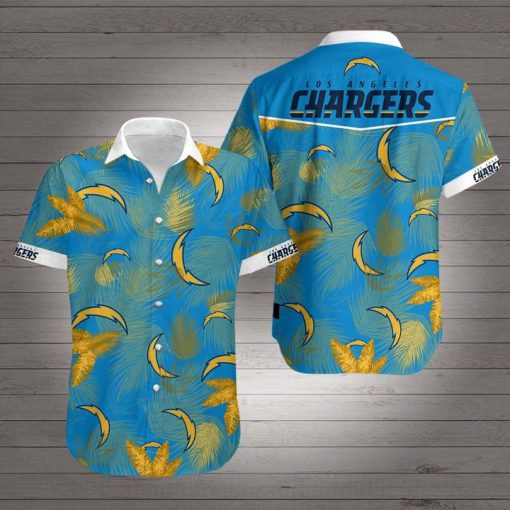 National football league los angeles chargers hawaiian shirt 2