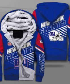 National football league new york giants team full printing fleece hoodie