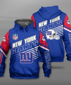 National football league new york giants team full printing hoodie
