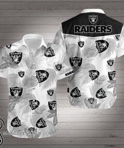 National football league oakland raiders hawaiian shirt