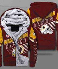 National football league washington redskins team full printing fleece hoodie