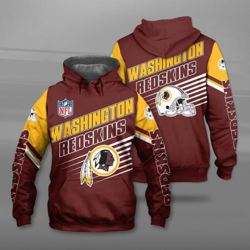 National football league washington redskins team full printing hoodie