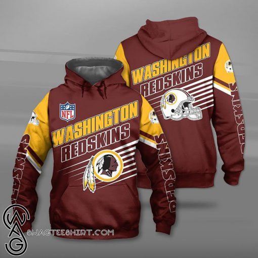 National football league washington redskins team full printing shirt