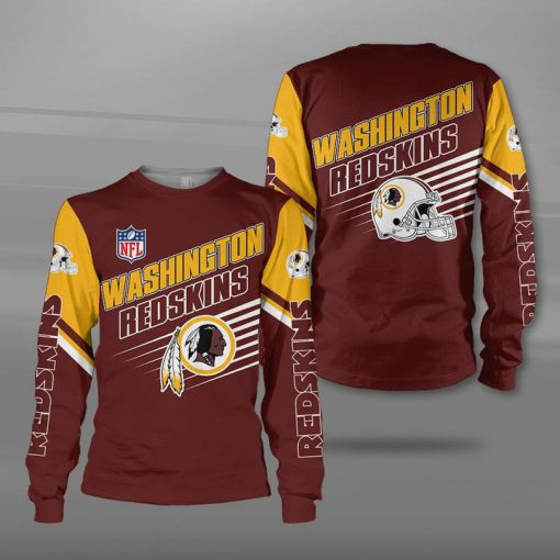 National football league washington redskins team full printing sweatshirt