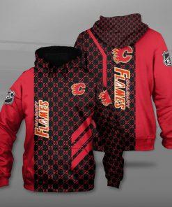 National hockey league calgary flames full printing hoodie