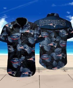 New england patriots floral hawaiian shirt 2