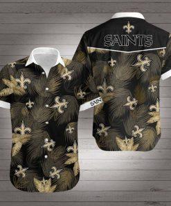New orleans saints floral hawaiian shirt 4
