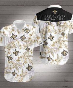 New orleans saints football floral hawaiian shirt 3