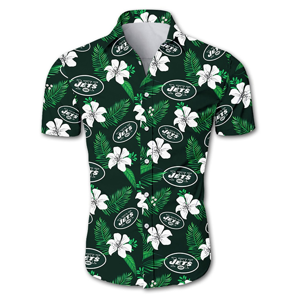 New york jets tropical flower hawaiian shirt 3