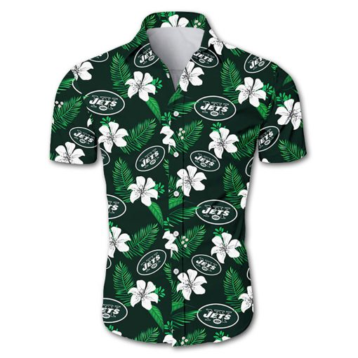 New york jets tropical flower hawaiian shirt 4