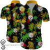 Pittsburgh steelers cannabis all over printed hawaiian shirt