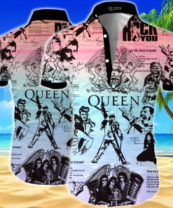 Queen all over printed hawaiian shirt 1