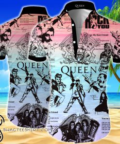 Queen all over printed hawaiian shirt