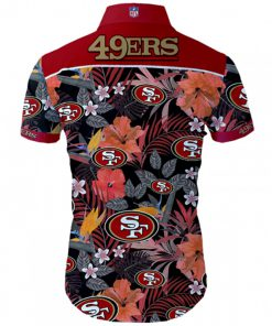 San francisco 49ers tropical flower hawaiian shirt 4