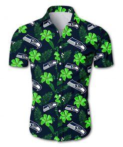 Seattle seahawks tropical flower hawaiian shirt 2