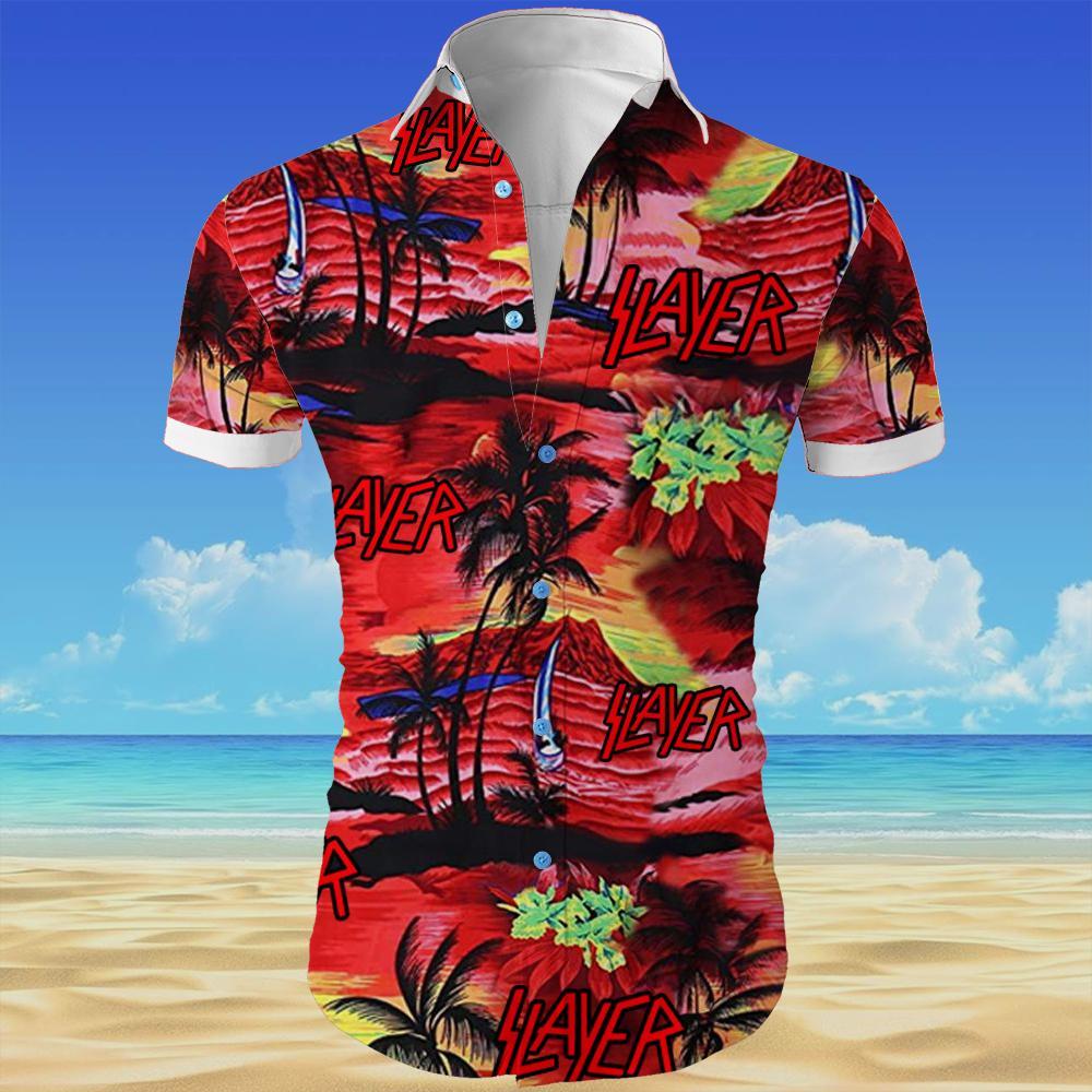 Slayer all over printed hawaiian shirt 3