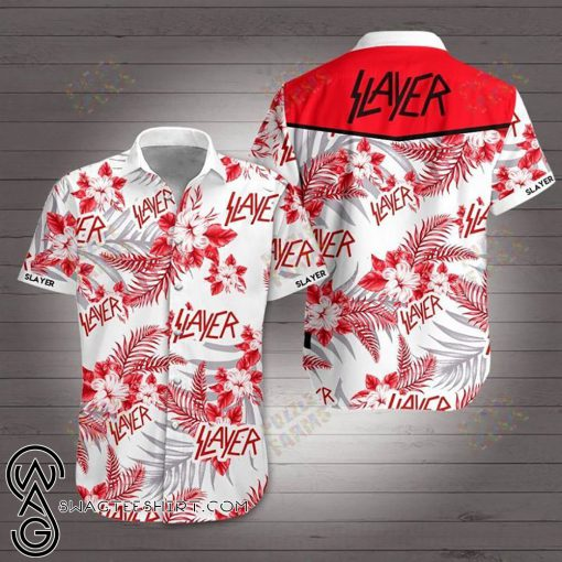 Slayer rock band hawaiian shirt