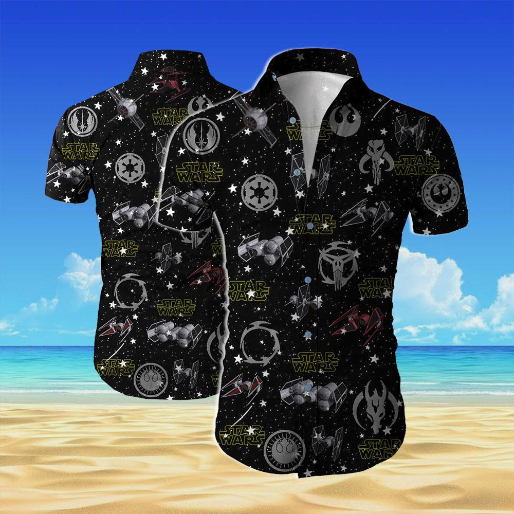 Star wars all over printed hawaiian shirt 2