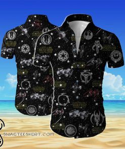 Star wars all over printed hawaiian shirt