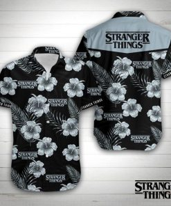 Stranger things floral hawaiian shirt 1