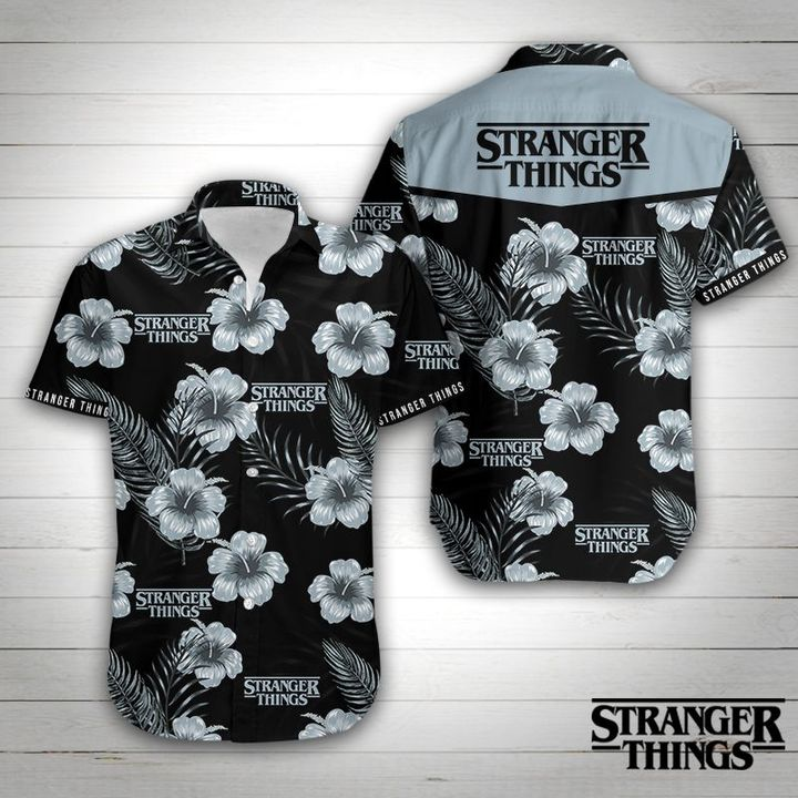 Stranger things floral hawaiian shirt 2