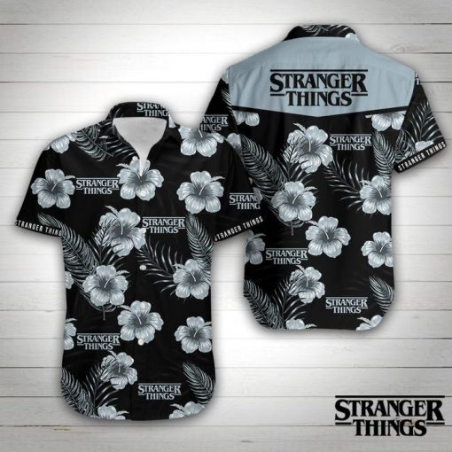 Stranger things floral hawaiian shirt 4
