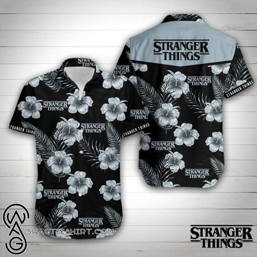 Stranger things floral hawaiian shirt