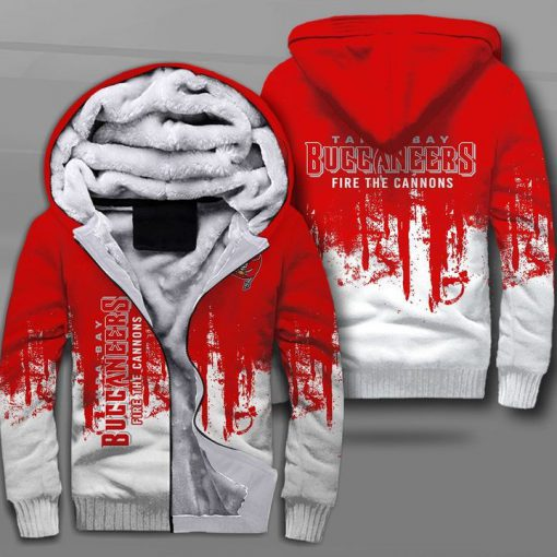 Tampa bay buccaneers fire the cannons full printing fleece hoodie