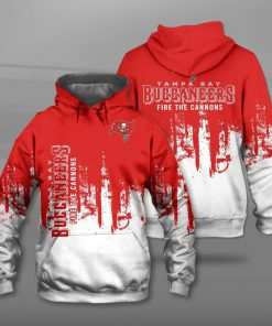 Tampa bay buccaneers fire the cannons full printing hoodie