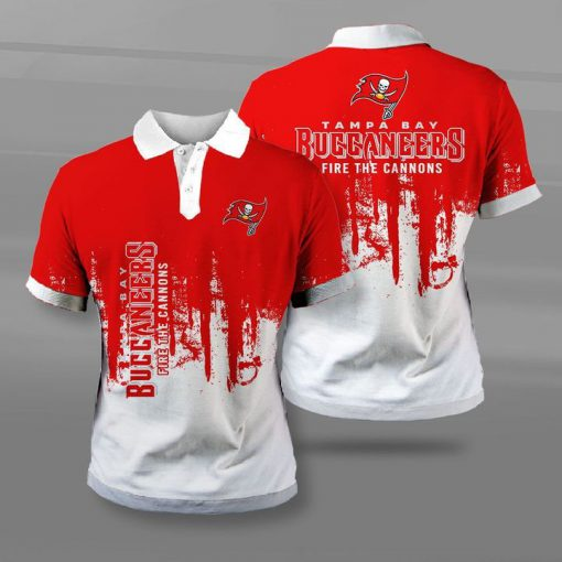 Tampa bay buccaneers fire the cannons full printing polo
