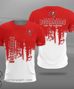 Tampa bay buccaneers fire the cannons full printing shirt