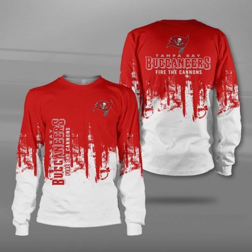 Tampa bay buccaneers fire the cannons full printing sweatshirt