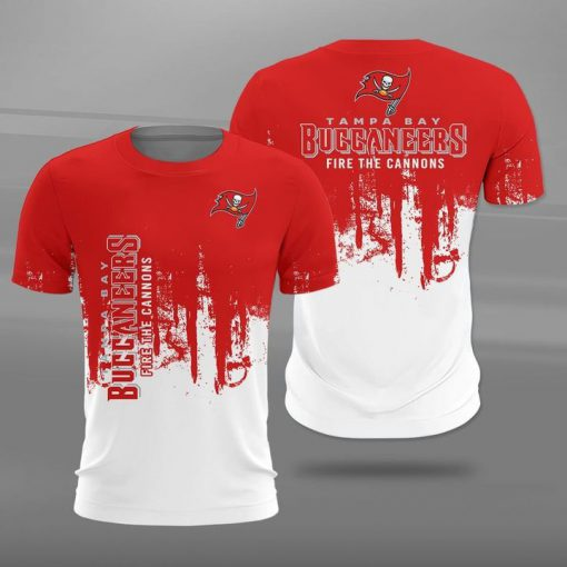 Tampa bay buccaneers fire the cannons full printing tshirt