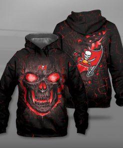 Tampa bay buccaneers lava skull full printing hoodie