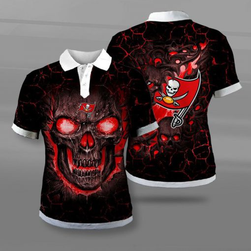 Tampa bay buccaneers lava skull full printing polo