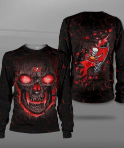 Tampa bay buccaneers lava skull full printing sweatshirt