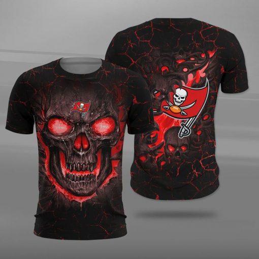 Tampa bay buccaneers lava skull full printing tshirt