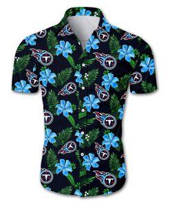 Tennessee titans tropical flower hawaiian shirt 2