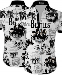 The beatles band all over printed hawaiian shirt 2