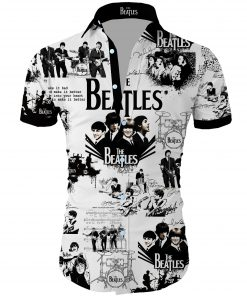 The beatles band all over printed hawaiian shirt 3