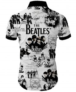 The beatles band all over printed hawaiian shirt 4