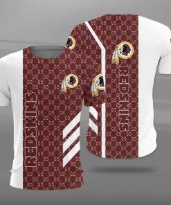 Washington redskins football team full printing tshirt